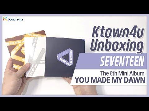 Unboxing SEVENTEEN 6th mini album [YOU MADE MY DAWN] all versionsKihno 세븐틴 언박싱 セブンティーン KPOP Ktown4u