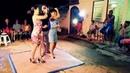 Casino en trio en el barrio Las Delicias, Jaguey Grande