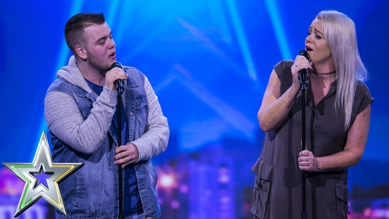 Lucy presses her Golden Buzzer for mother son duo Sharon and Brandon   Irelands Got Talent 2019