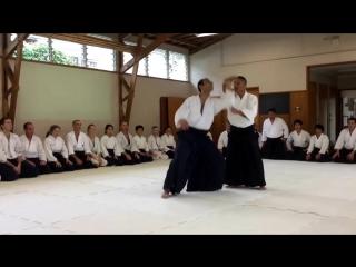 Aikido Shinryukan Shihan Nobuo Takase 7th Dan demonstrating Katate Tori Kokyu Nage Waza.mp4