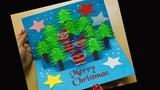 paper Christmas Pop Up Greeting Card Making Idea Christmas Tree Card Siri Art&ampCraft