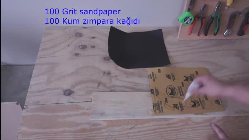 Making a Self Clamping Circular Saw Guide - Kendinden Yapışkanlı Kesim Kılavuzu