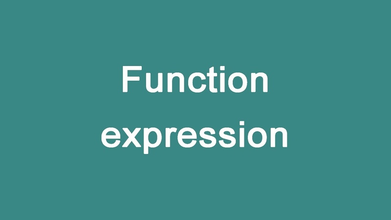 JavaScript 6 Function expression