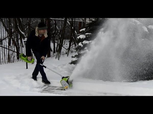 Обзор надежных аккумуляторных снегоуборщиков GreenWorks 40 V в Голицыно-Инструмент.