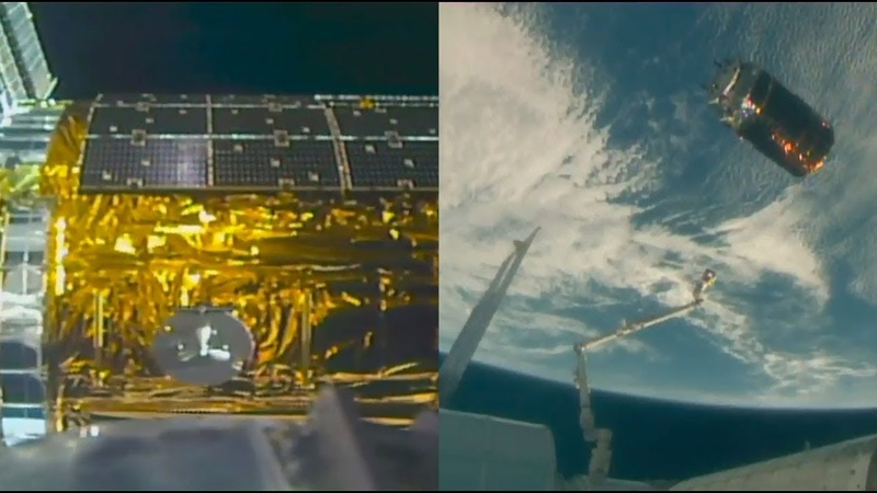 HTV-7 departs the International Space Station