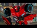 Трансформеры Роботы под прикрытием 5 серия Сайдсвайп на футболе Игра по мультику о трансформерах