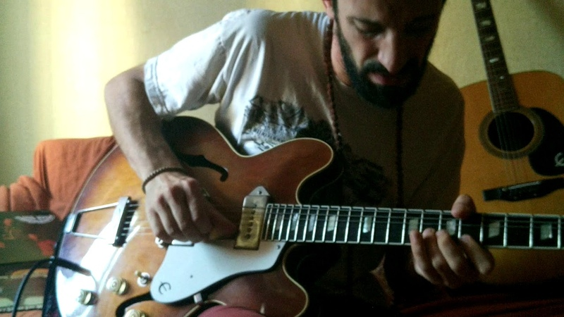 Man, guitar and the blues.