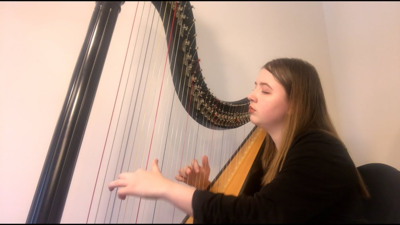 Lovely - Billie Eilish Khalid (Harp Cover by Arianna Worthen)