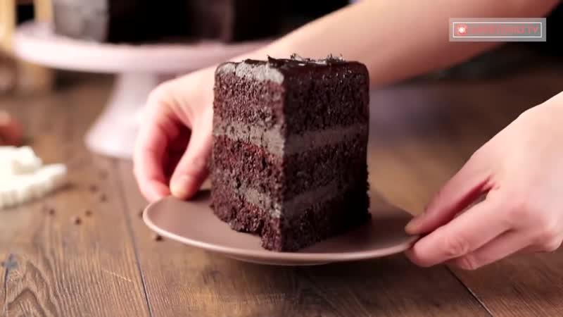 """Шоколадный торт - """"Исключительный"""". Мой любимый десерт. _ Appetitno.TV"""
