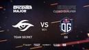 Team Secret vs OG, EPICENTER Major 2019 EU Closed Quals , bo1 [GodHunt Inmate]