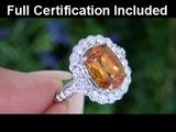Rare Carrie Underwood Estate VVS1 Ceylon Sapphire &amp Diamond Ring Set In Solid 18K White Gold