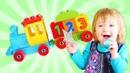 Biancas tolle Spielzeuge - Die Dampflokomotive mit den Tieren - Zahlen Lernen