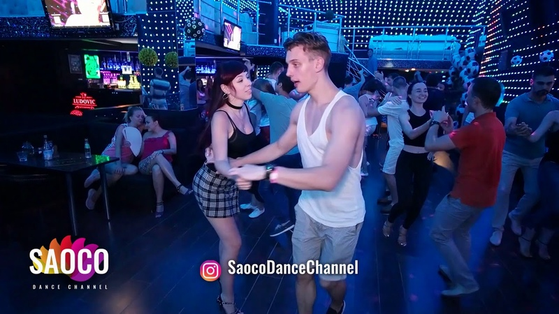 Inna Kolpakova and Sergey Bobkov Salsa Dancing in Ludovic at Boogaloo Party, Sunday 15.07.2018