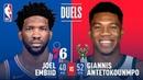 Giannis Antetokounmpo Joel Embiid's LEGENDARY Duel   March 17, 2019 NBANews NBA Bucks GiannisAntetokounmpo 76ers JoelEmbiid