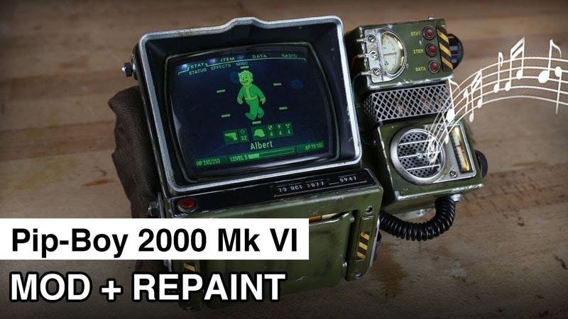 Pip-Boy 2000 Mod Repaint   Fallout 76   Speaker and LEDs