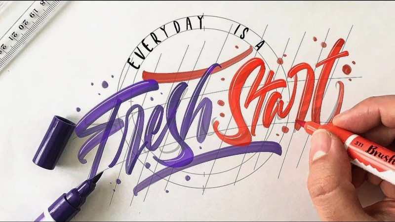 SATISFYING CALLIGRAPHY VIDEO COMPILATION ( The Best Brush Pen Calligraphy )