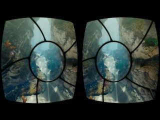 Virtual Reality. Underwater 3D VR SBS