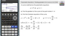 Parametric Equations - Finding The Gradient Cartesian Equation Of The Curve - Casio fx-CG50