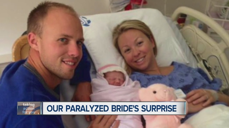 Our paralyzed bride's surprise