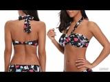 Shop Halter Top Printed Brazillian Bikini Set