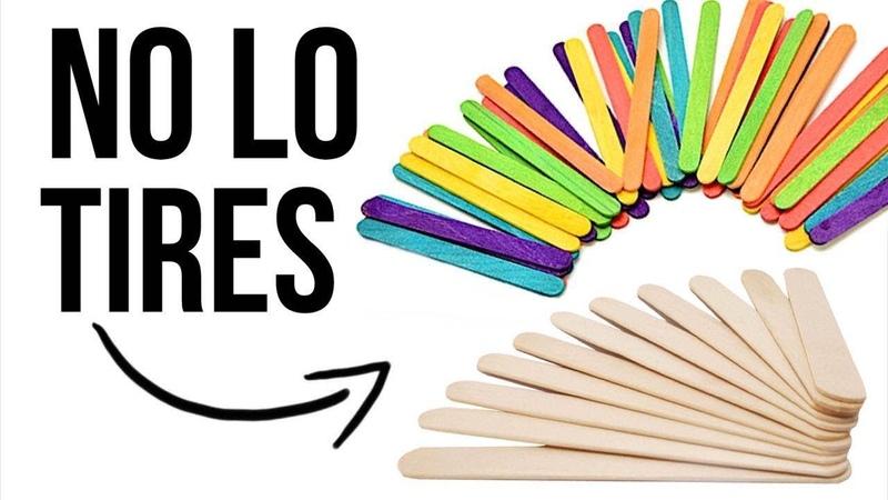 3 ideas increíbles con Palitos de Helado - 3 Amazing Ice Cream Stick Craft