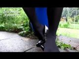smell nylon feet playing with patent leather Heels (Ножки, Фетиш, Фут, Foot, Fetish, Чулки, Legs, Секси)