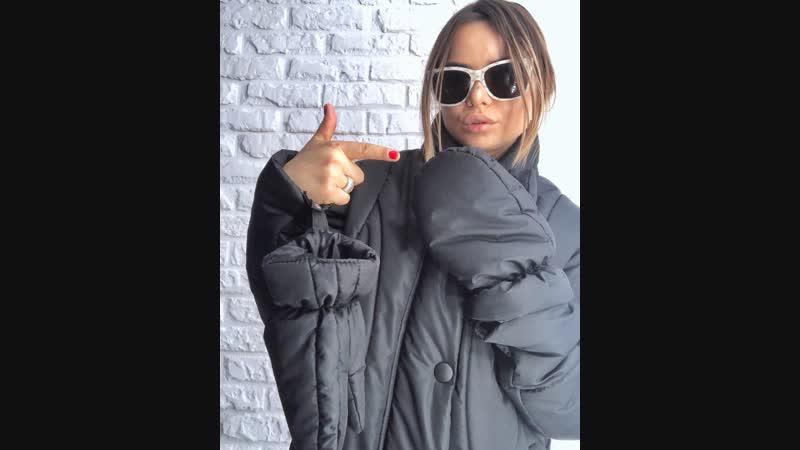 Длинная дутая куртка со СЪЕМНЫМИ ВАРЕЖКАМИ от SRS CLOTHING BRAND