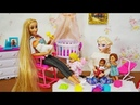 Barbie Baby Doll Play Set Rapunzel Mom and Elsa Mom Parenting