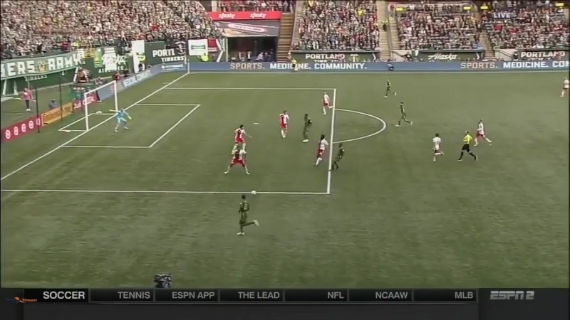 Portland Timbers v New England Revolution (11_16) - Interfering with an opponent