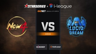 New4 vs Lucid Dream, map 2 overpass, StarSeries & i-League Season 6 Asia Qualifier