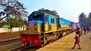 Bangladesh Railway. Express Train at Dhaka Airport Station/ Поезд Экспресс в Бангладеш