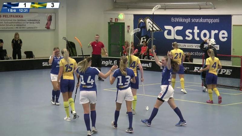 Maalikooste Suomi–Ruotsi 5-4 (U19-tytöt)