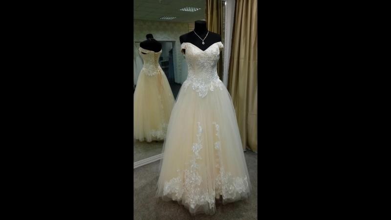 Свадебное платье нежно-персикового цвета