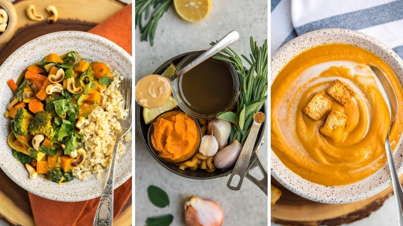 3 SAVORY Vegan Pumpkin Recipes (in One Pot!)