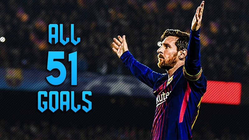 Lionel Messi ● All 51 Goals 2017/18 ● HD