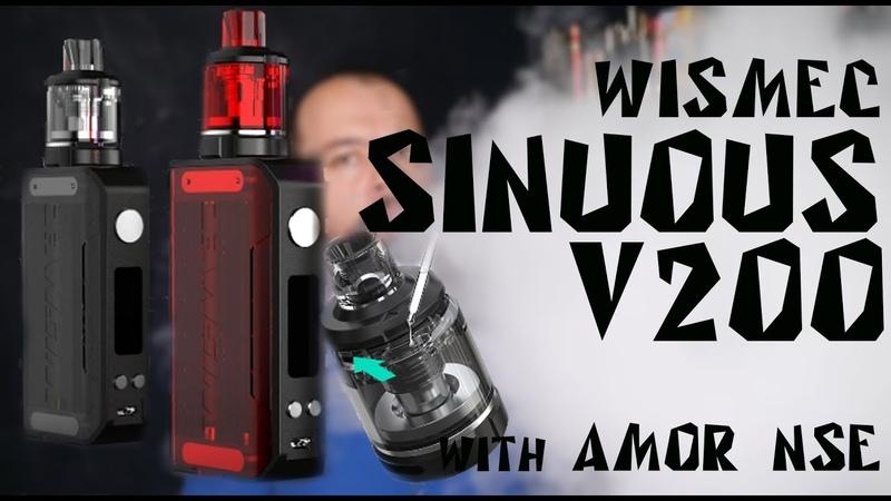 Wismec SINUOUS V200 with Amor NSE kit | Детальный обзор
