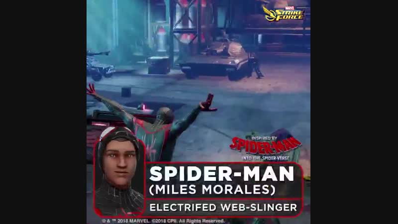 Miles Morales was bitten by an Oz formula enhanced spider and gained super-human abilities including the ability to stun foes wi