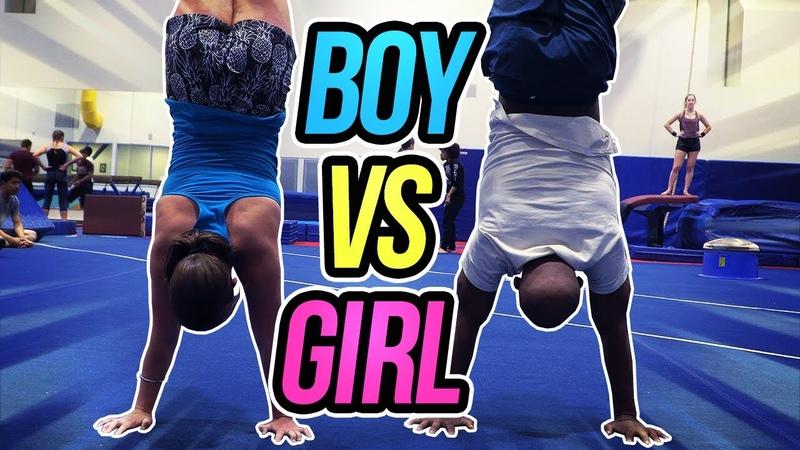 Boys VS Girls Gymnastics Competition| Rachel Marie FT. John Orozco