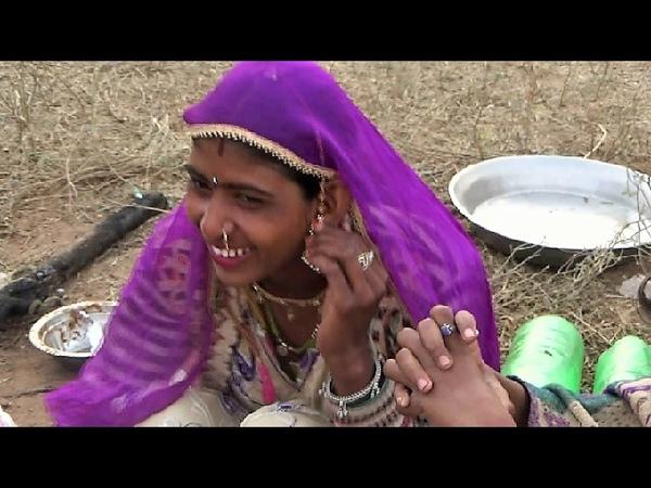 Indian Marwari Village Girl Making Tea on Stone Stove - Real Rajasthani Life