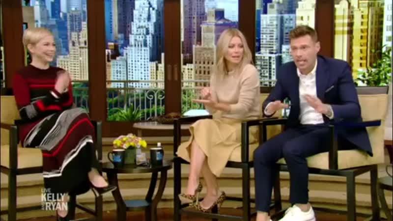 Мишель Уильямс на ток шоу В прямом эфире с Риджесом и Кэти Ли 4 октября 2018