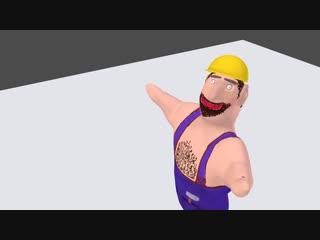 Blender 3D - Горячий Кавказский парень .