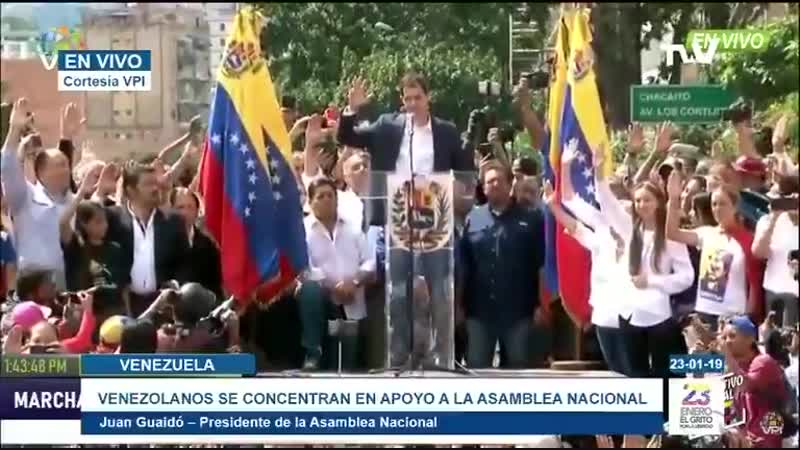 Juan Guaidó jura asumir las competencias del Ejecutivo Nacional, como presidente encargado de Venezuela
