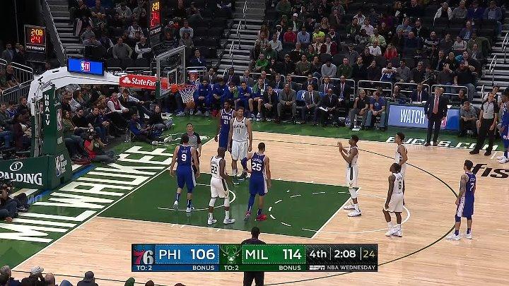 NBA RS 2018 Philadelphia 76ers vs Milwaukee Bucks 24 10 720p EN 60fps