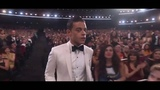 Rami Malek accepting his Emmy for Mr Robot