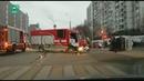 Полицейский автозак перевернулся в Москве после ДТП