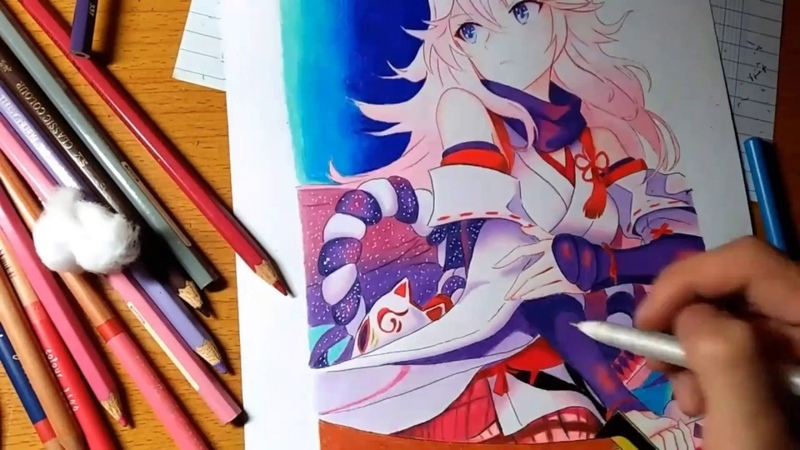 Drawing Yae sakura | Honkai Impact 3rd |
