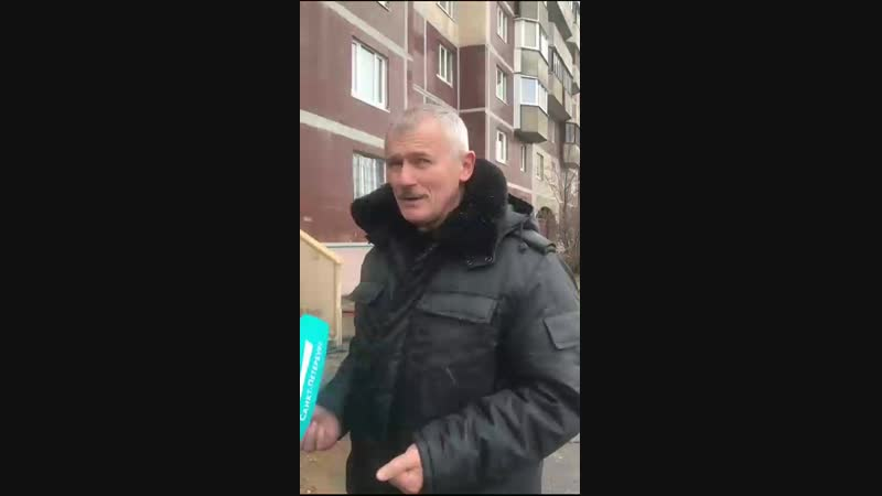 Николай Цед с места прорыва трубы на Шуваловском проспекте