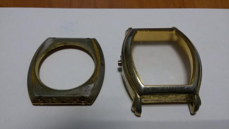 Реставрация золотого покрытия наручных часов.