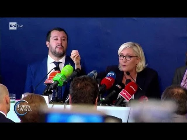 Salvini Le Pen - Porta a porta 09/10/2018