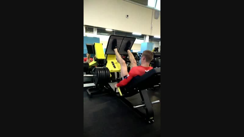 Жим ногами под 45° 260 кг на 8 раз